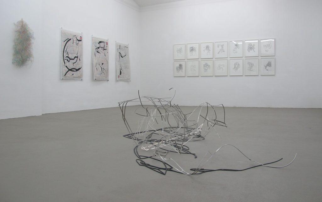 Ausstellungs Linie 11, v.l. Andreas My, Sylvia v. Bernstorff, Johannes Strugalla, Gertraud Hasselbach